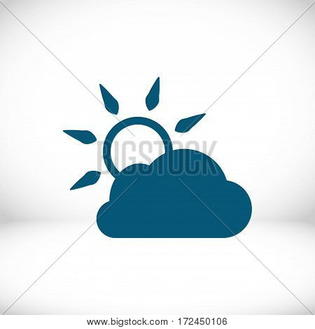 cloud covers the sun icon stock vector illustration flat design