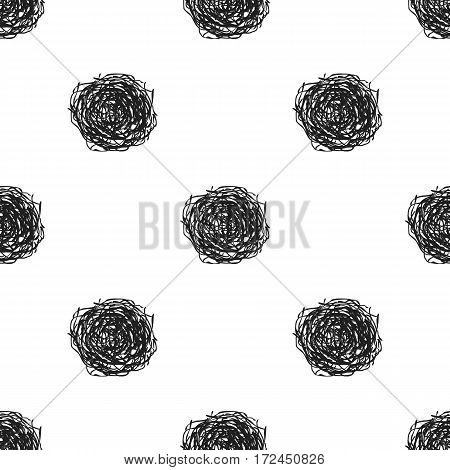 Tumbleweed icon in black style isolated on white background. Wlid west pattern vector illustration.