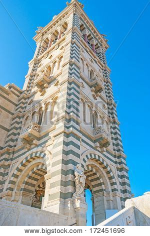 The Bell Tower Of The Notre Dame Of Marseille