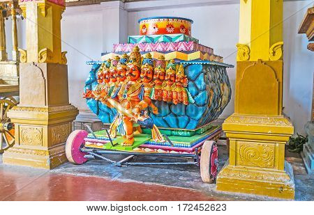The Ravana Cart In Munneswaram Temple
