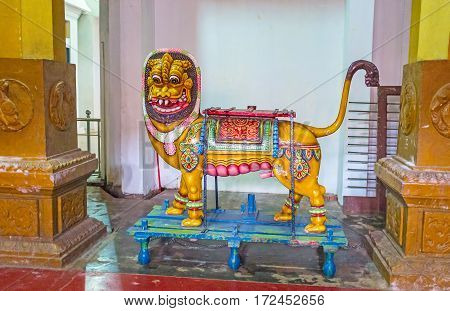 The Temple Sculpture Of The Lion