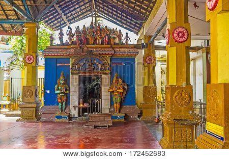 The Medieval Art In Munneswaram Temple
