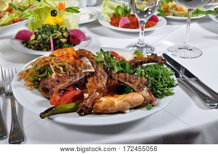 A nice example of Turkish cuisine is kaburga dolmasi