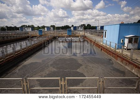 One of the activated sludge tank in treatment plant