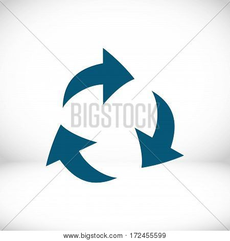 recycling icon stock vector illustration flat design