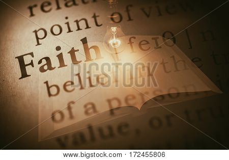 fake dictionary definition of the word faith.