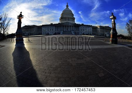 Capitol Building for United States in Washington DC public building