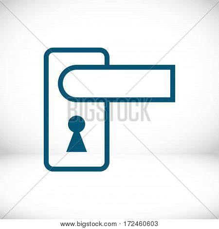 door handle icon stock vector illustration flat design