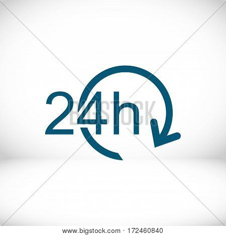 24 hours icon stock vector illustration flat design