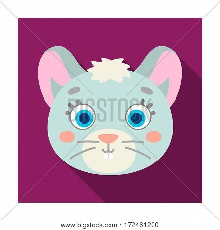 Mouse muzzle icon in flat design isolated on white background. Animal muzzle symbol stock vector illustration.