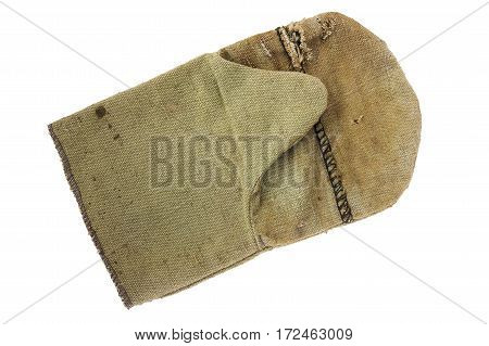 Construction torn glove made of tough fabric