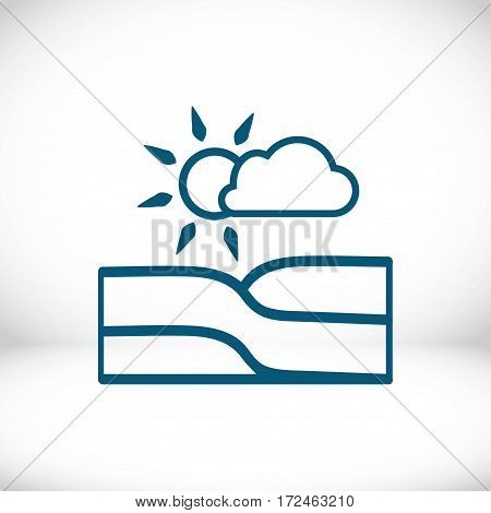 landscape icon stock vector illustration flat design