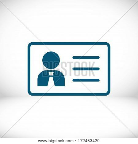 id icon stock vector illustration flat design
