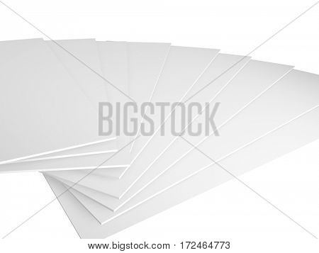 3d render on a white background, empty ready for message