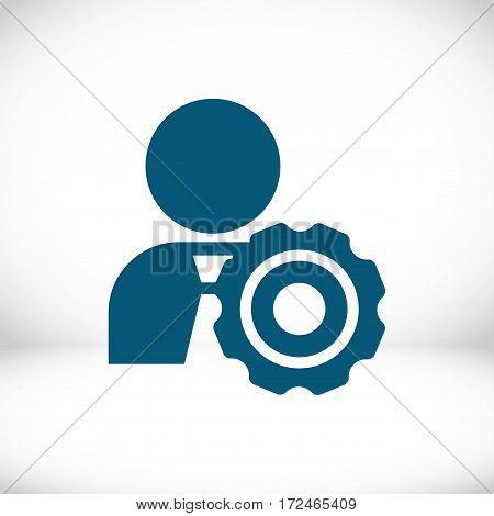 people gear icon stock vector illustration flat design