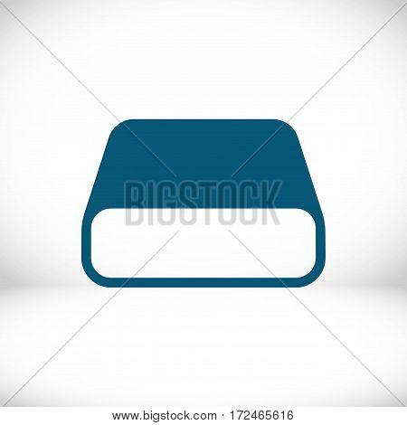 hard drive icon stock vector illustration flat design