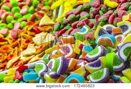 colorful Jelly candies and jelly colorful jelly candies