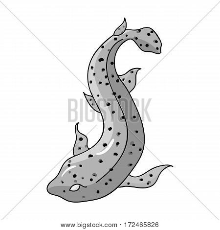Catshark icon in monochrome design isolated on white background. Sea animals symbol stock vector illustration.