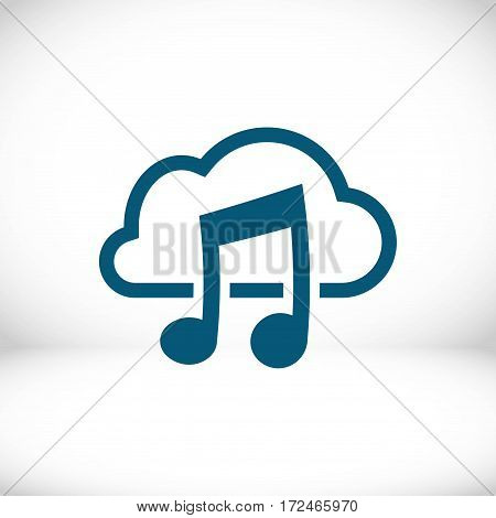music upload download to the cloud icon stock vector illustration flat design