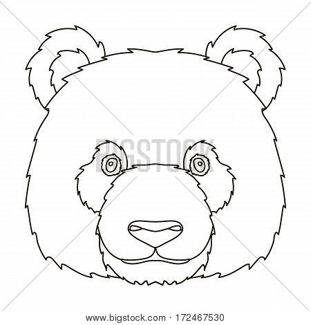 Panda icon in outline design isolated on white background. Realistic animals symbol stock vector illustration.