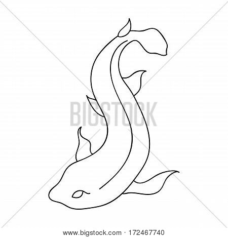 Catshark icon in outline design isolated on white background. Sea animals symbol stock vector illustration.