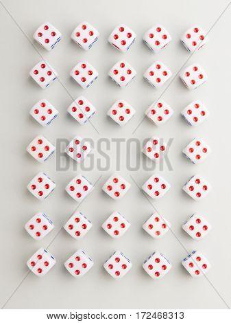 Center Four Cross Pattern