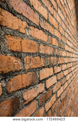 Brick Wall Red Texture, Detailed Structure Of Brick In Natural Pattern For Background