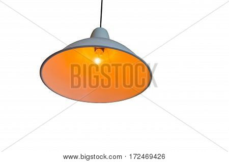 Lamp On Ceiling Or Interior Lighting On White Background