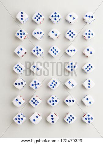 Center Blue Cross Pattern