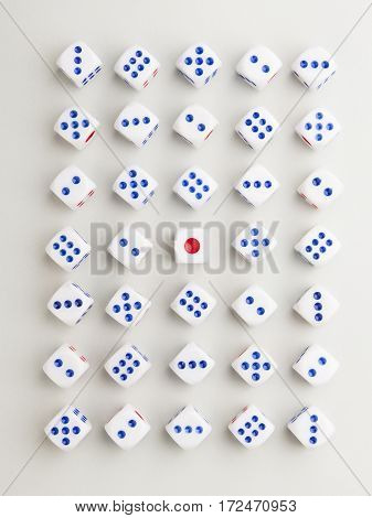Red Center Cross Pattern