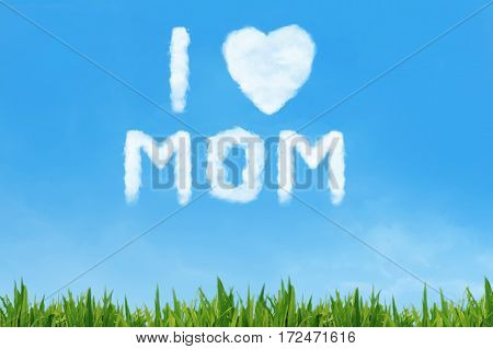 Mother's Day Message Made Of Cloud