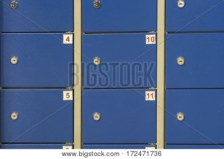 Boxes in a locker room