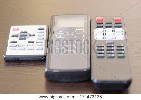 remote controls close up