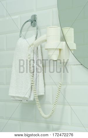 Towels on a stand