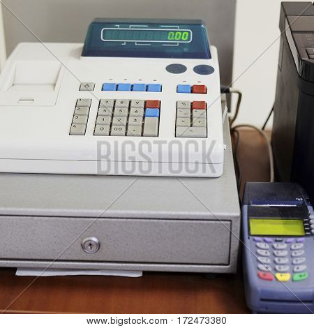 The image of cash register