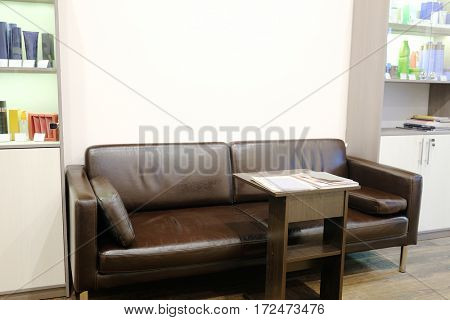 Client room in a beauty shop, hairdressing salon etc.
