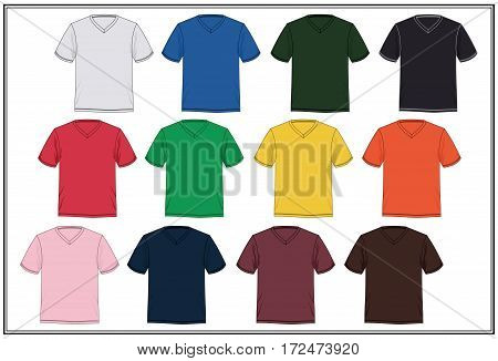 Template T shirt Design Graphic Colorful, Vector.