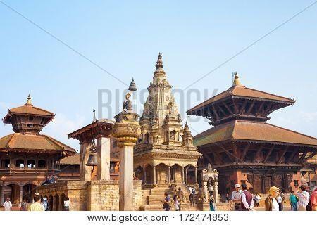 Bhaktapur Durbar Square Vatsala Durga Angled H