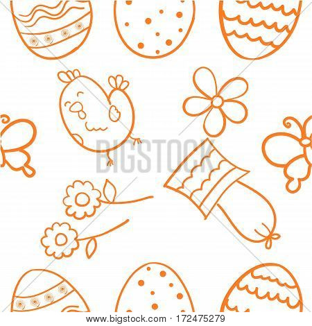 Doodle of easter design vector flat collection stock