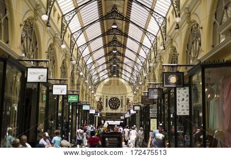 The Royal Arcade is an historic shopping arcade opened in 1870 in central Melbourne Australia.