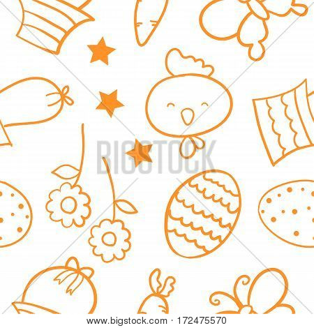 Doodle of easter egg element vector collection stock