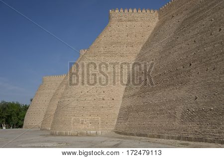 The Walls Of The Fortress ( Citadel ) In Bukhara ( Buxoro ), Uzbekistan