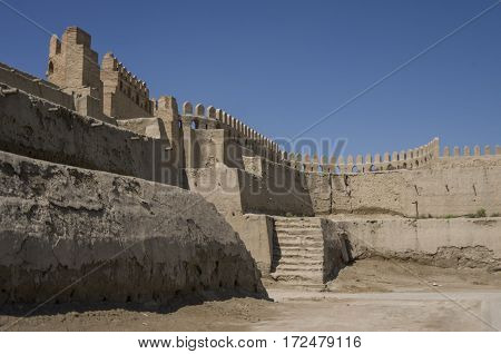 Ruins Of Talipach Gates And Fortress Walls, Bukhara, Uzbekistan.