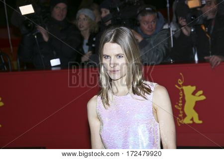 BERLIN, GERMANY - FEBRUARY 18: Costume designer Aino Labrenz arrives for the closing ceremony of the 67th Berlinale Festival Berlin at Berlinale Palace on February 18, 2017 in Berlin, Germany.