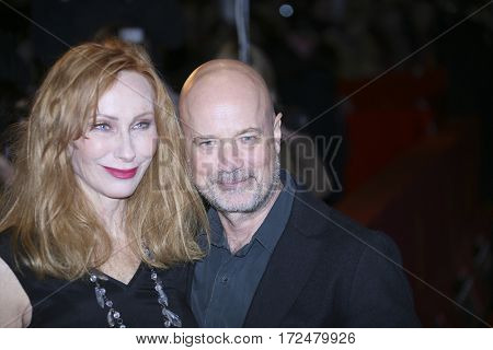 Andrea Sawatzki and Christian Berkel arrive for the closing ceremony of the 67th Berlinale International Film Festival Berlin at Berlinale Palace on February 18, 2017 in Berlin, Germany.