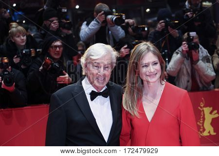 Julia Jentsch, Paul Verhoeven arrive for the closing ceremony of the 67th Berlinale International Film Festival Berlin at Berlinale Palace on February 18, 2017 in Berlin, Germany