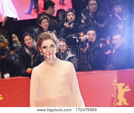 Clotilde Courau arrives for the closing ceremony of the 67th Berlinale International Film Festival Berlin at Berlinale Palace on February 18, 2017 in Berlin, Germany.