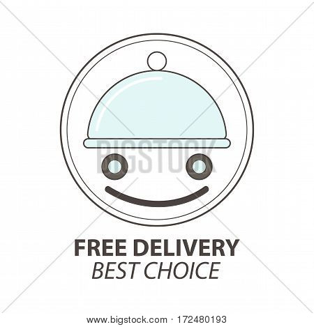 Express delivery service logo template. Vector Illustration. Isolated on white.