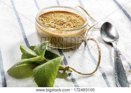 Creme caramel with brown sugar
