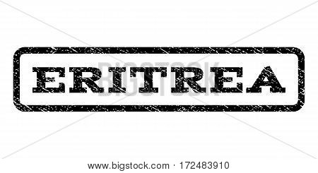 Eritrea watermark stamp. Text tag inside rounded rectangle with grunge design style. Rubber seal stamp with unclean texture. Vector black ink imprint on a white background.